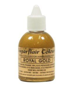 Sugarflair Airbrush Colouring Royal Gold 60ml