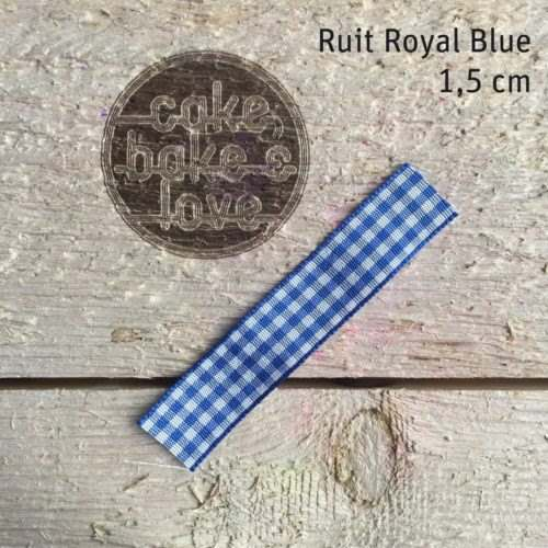 Lint per meter 1,5 cm breed ruit royal blue