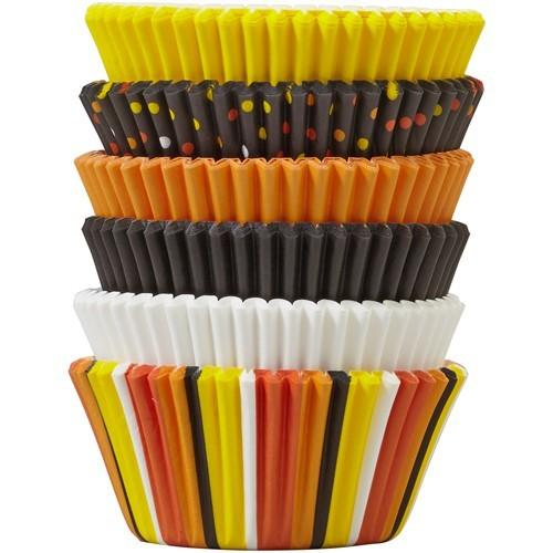Wilton baking cups candy corn pk/150