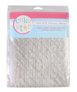 Cake Star Texture Mats - Fashion - 6 Piece