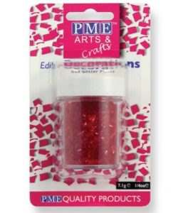PME Glitter Flakes - Red 7g