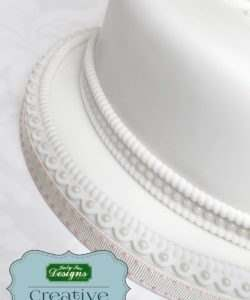 Katy sue designs - rope and pearl borders silicone mould bij cake, bake & love 13