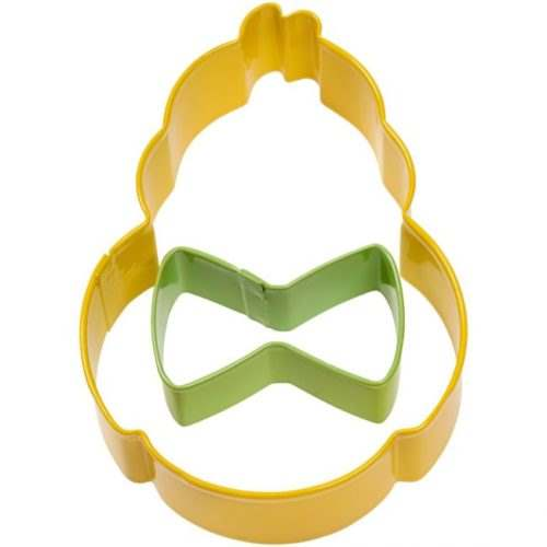 Wilton cookie cutter set chick with bowtie set/2 (2)