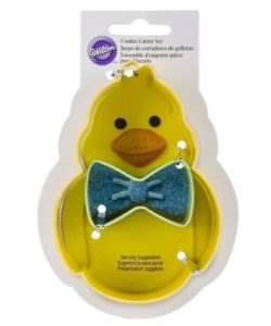 Wilton Cookie Cutter Set Chick with Bowtie set/2