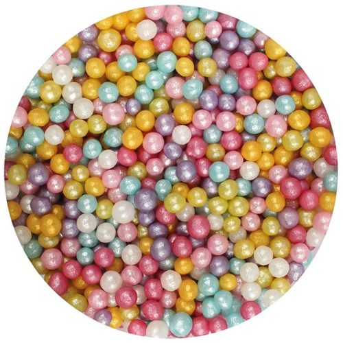 Sprinkley sprinkles - parels 4mm shimmer mix 80gr bij cake, bake & love 5