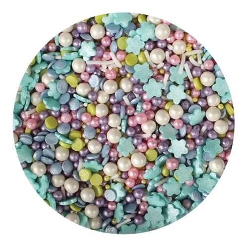 Purple cupcakes sprinkle mermaid mix 100 bij cake, bake & love 5