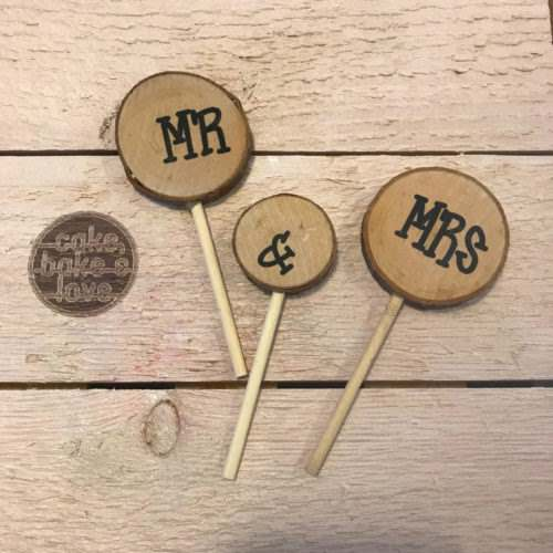 Caketopper mr & mrs boomstammetjes bij cake, bake & love 5