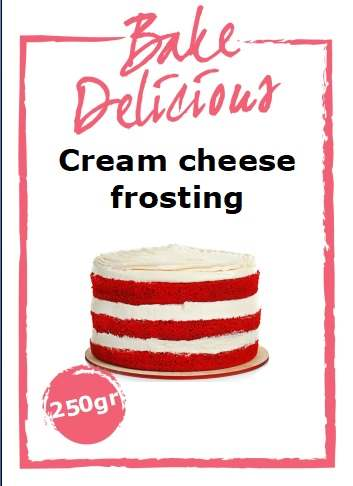 Bake delicious cream cheese frosting 250 gram bij cake, bake & love 4