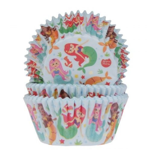 House of Marie Baking Cups Zeemeermin pk/50