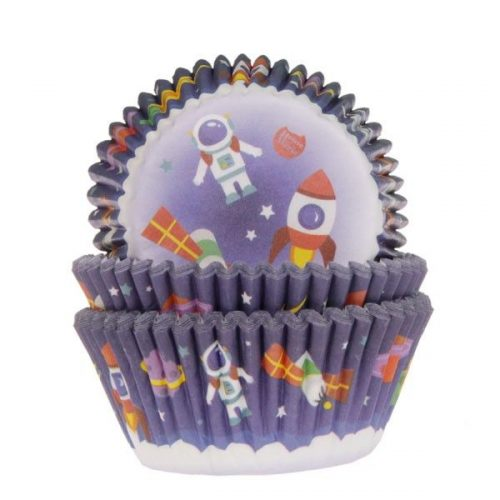 House of marie baking cups space pk/50 bij cake, bake & love 3