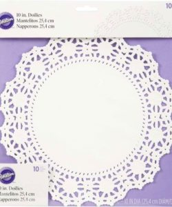 Wilton Doilies White Grease-Proof -Round 25cm- pk/10