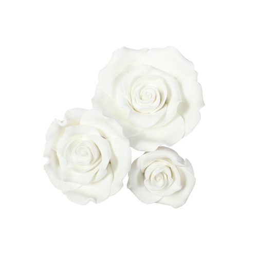 Sugarsoft® roses - mixed pack - wit - 12 stuks