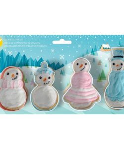 Wilton Cookie Cutter Set Snowman Set/4