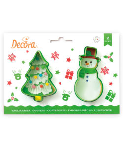 Christmas tree & Snowman cookie cutter set
