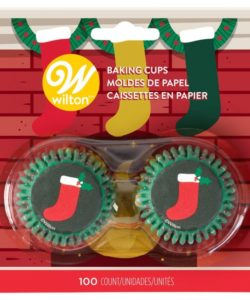 Wilton Mini Baking Cups Stocking pk/100