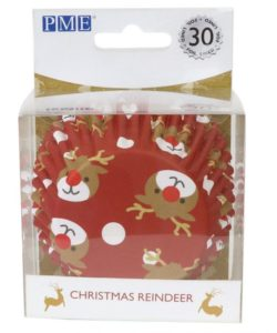 PME Foil Baking Cups Christmas Reindeer pk/30