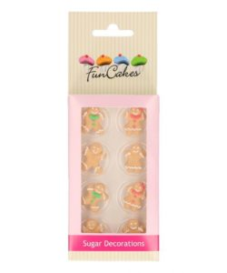FunCakes Suikerdecoratie Gingerbread Set/8
