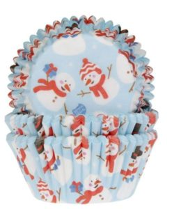 House of Marie Baking Cups Sneeuwpop pk/50