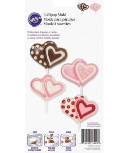 Wilton Lollipop Mold Double Heart