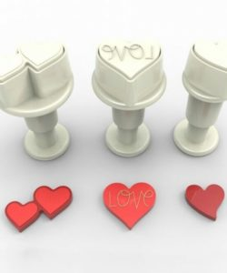 Dekofee Mini Plungers Hearts Set set/3