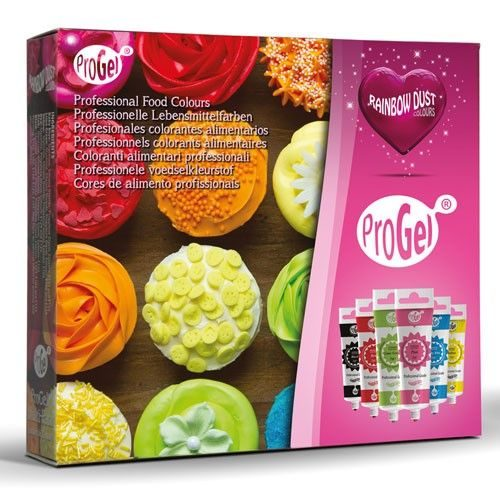Rd progel® concentrated color - multipack set/6 bij cake, bake & love 5