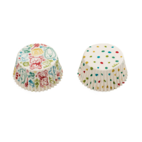 Baking cups baby and dots 36 st