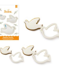 3 Doves Plastic Cookie Cutters Kit