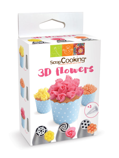 Decoratiekit 3d flowers bij cake, bake & love 3