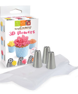 Decoratiekit 3d flowers bij cake, bake & love 6