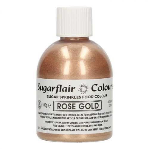 Sugarflair Sugar Sprinkles - Rose Gold - 100g