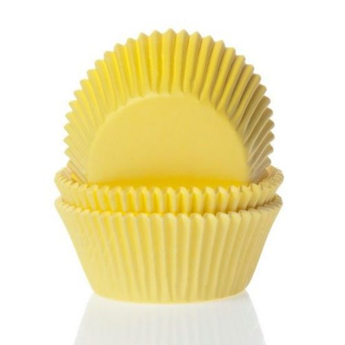 House of marie mini baking cups geel pk/60