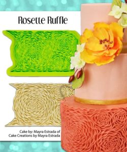 Marvelous molds - rosette ruffle simpress mould bij cake, bake & love 12