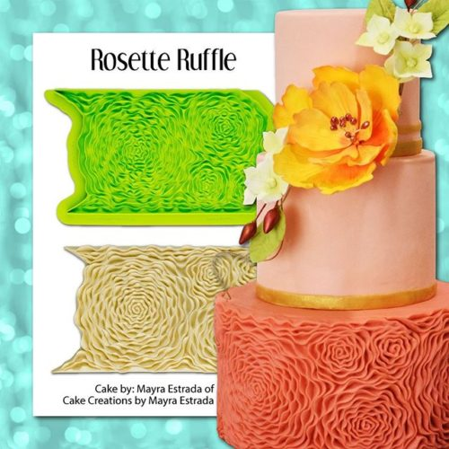 Marvelous molds - rosette ruffle simpress mould bij cake, bake & love 7
