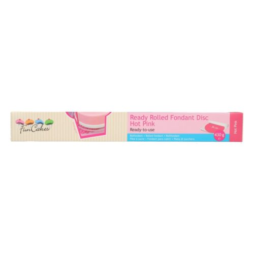 FunCakes Ready Rolled Fondant Disc -Hot Pink-