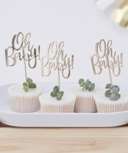 Cupcake toppers - Oh Baby!