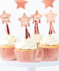 Cupcake toppers - Rose Gold