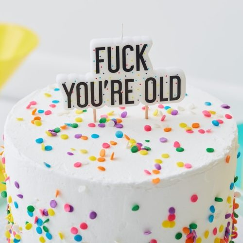 Candle - fuck you're old bij cake, bake & love 4