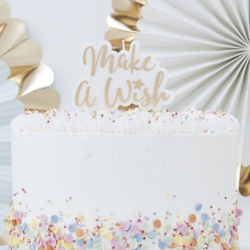 Candle gold - make a wish bij cake, bake & love 4