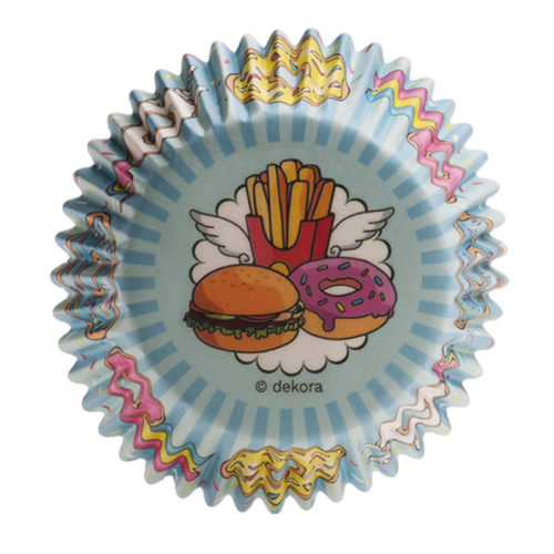 Baking cups Fast Food 25 stuks (2)