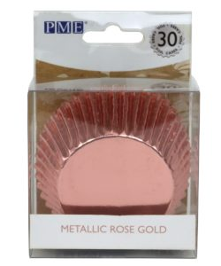 PME Baking Cups Metallic Rose Gold pk/30