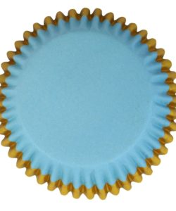 PME Foil Lined Baking Cups Blue with Gold Trim pk/30 (2)