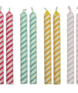 PME Candles Striped Pk/24