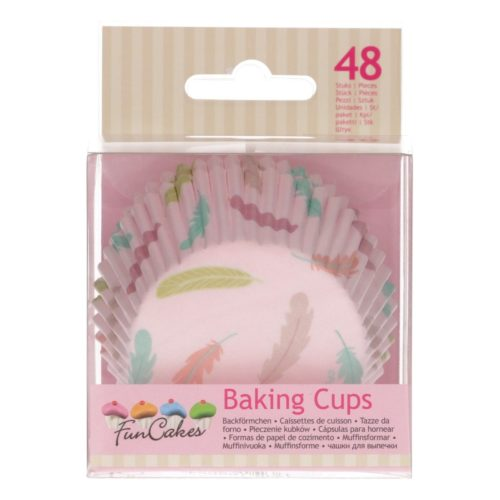 Funcakes baking cups -pastel feathers- pk/48