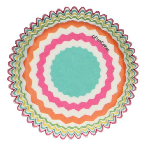 FunCakes Baking Cups -Colourful Chevron- pk/48 (2)