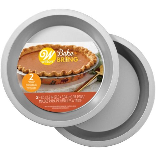 Wilton semi-disposable tin pie pan autumn pk/2