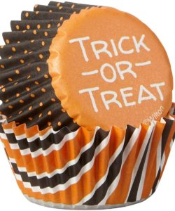 Wilton Mini Baking Cups Halloween Stripe & Dots pk/100 (2)