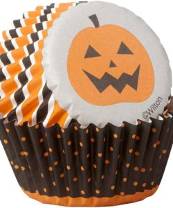 Wilton Mini Baking Cups Halloween Stripe & Dots pk/100 (3)