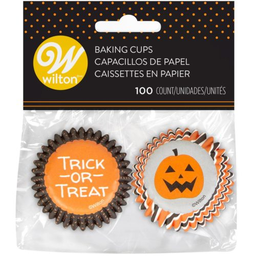 Wilton Mini Baking Cups Halloween Stripe & Dots pk/100