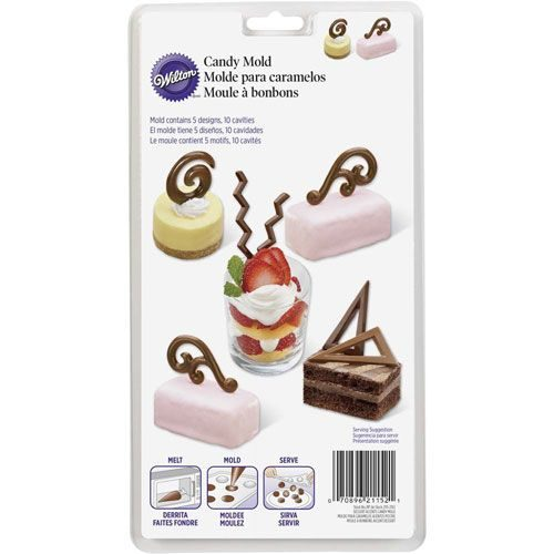 Wilton candy mold dessert accents bij cake, bake & love 4