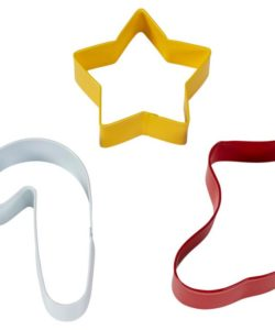 Wilton cookie cutter star-stocking-candy cane set/3 bij cake, bake & love 7
